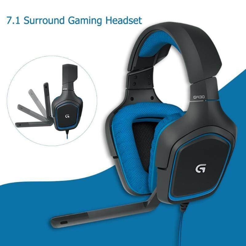 Logitech G430 7.1 Surround Gaming Headset, Stereo USB Wired Headphone With Adjustable Noise-cancelling Rotating Ear Cups For PC Singapore