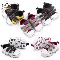 Giày Bé Trai Đính Kim Sa Màu Vàng Velcro Giày Cotton Cho Trẻ Sơ Sinh Giày Trẻ Tập Đi Đế Mềm Chống Trượt