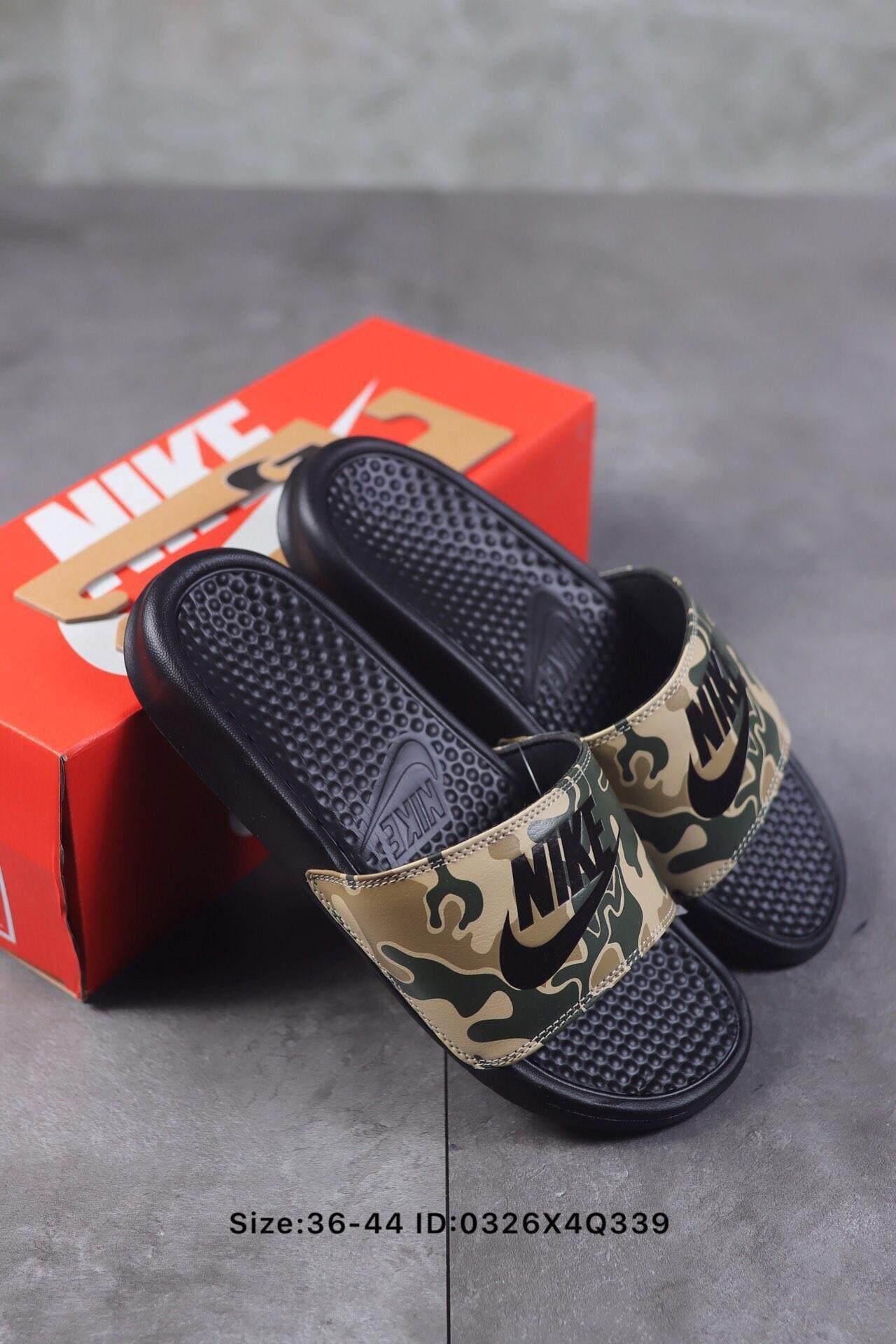 sale retailer 3d956 81afc 2019 Original NIKE_BENASSI SWOOSH slippers summer beach slippers for men  and women Hot Sale