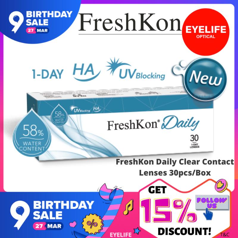 FreshKon Daily Clear Contact Lenses (30pcs/box) / Daily Disposable