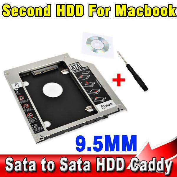 Universal 2.5 2nd 9.5 Mm SSD HD Hard Disk Sata Drive Kadi Adaptor HDD Bay untuk MacBook Pro Tipe Unibody A1278 A1286 A1297 CD ROM Optical Bay