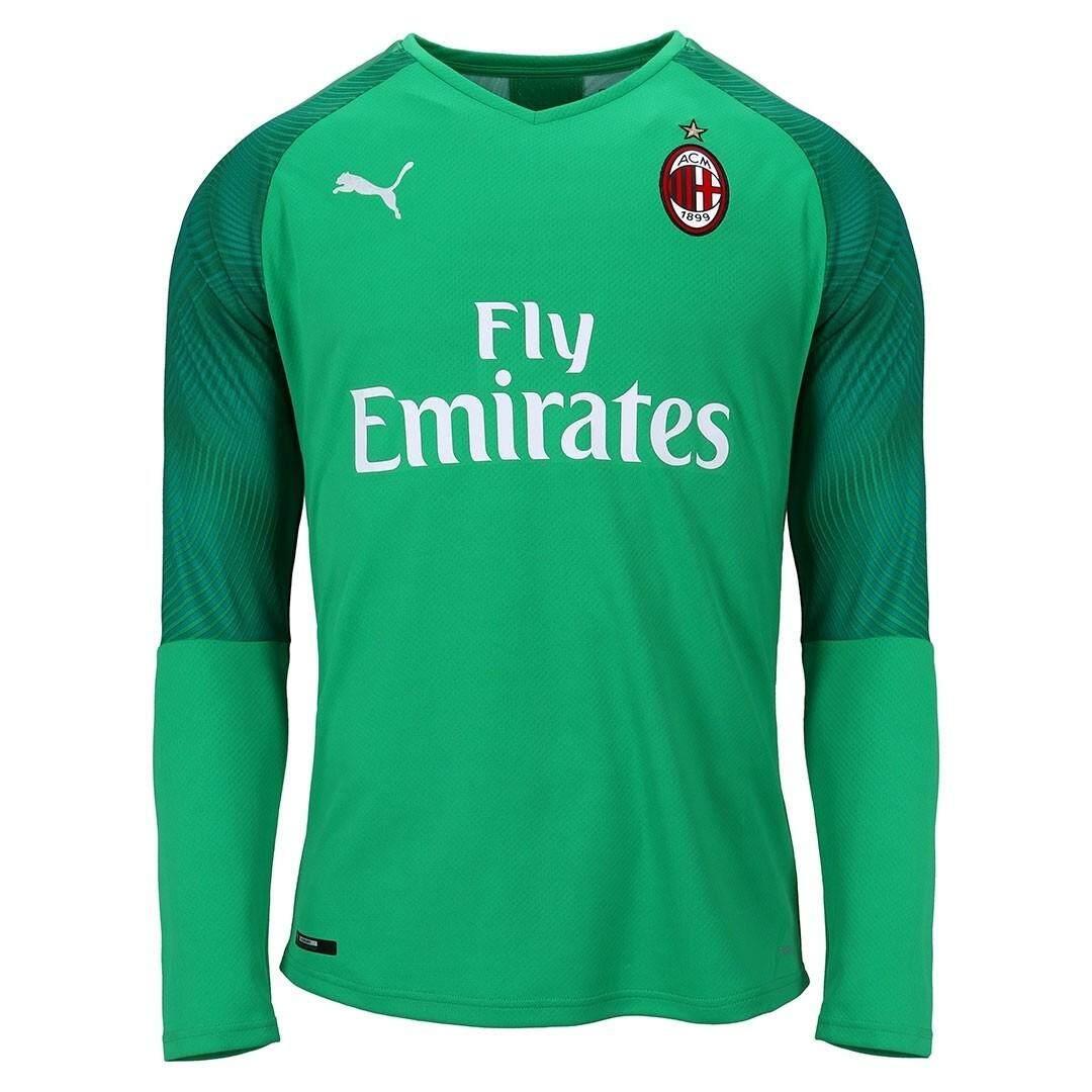 huge discount 3d037 51663 Top Quality 2019/20 AC Milan goalkeeper Jersey Long Sleeve goalkeeper  Football Jersey Green goalkeeper Soccer Shirt
