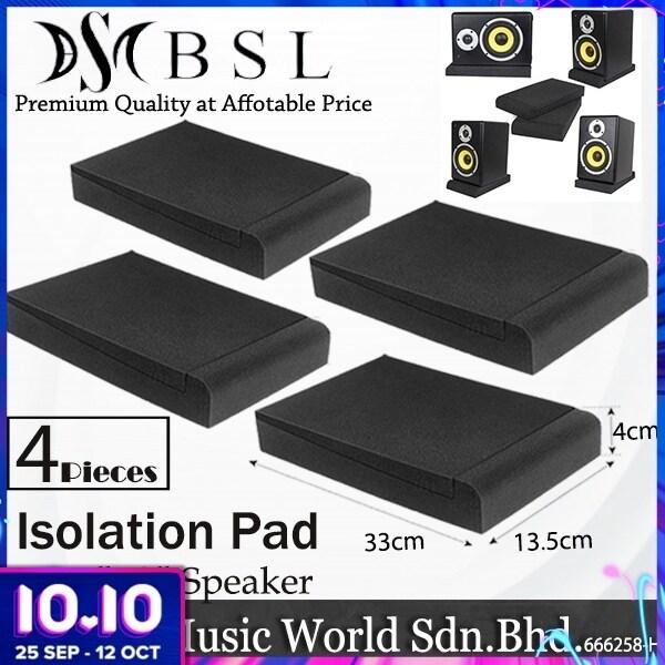 BSL Isolation Pad for 3 to 8 Studio Monitor Speaker with Adjustable Anti Vibration Acoustic Foam Sponge (Set) Malaysia