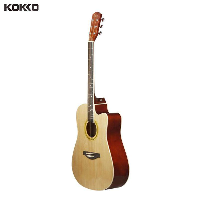 Guitar 41inch Acoustic Basswood Cutaway Guitar Wooden Fingerboard Acoustic Guitarra Christmas Gift Malaysia