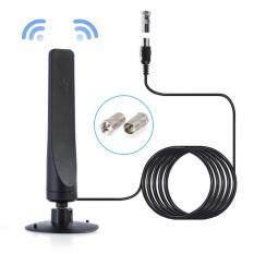 Leegoal TIVI Mini Ăng Ten Trong Nhà, 9.8ft Cáp Kỹ Thuật Số HD HDTV Freeview TRUYỀN HÌNH Trên Không Khuếch Đại 50 Dặm Phạm Vi Bộ Khuếch Đại Tín Hiệu Tăng Áp Cho 4 K 1080 P DVB-T2