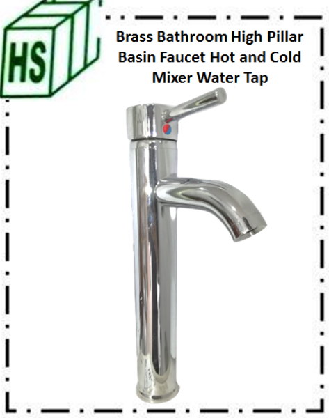 Brass Bathroom High Pillar Basin Faucet Hot and Cold MixerWater Tap BA-24CH
