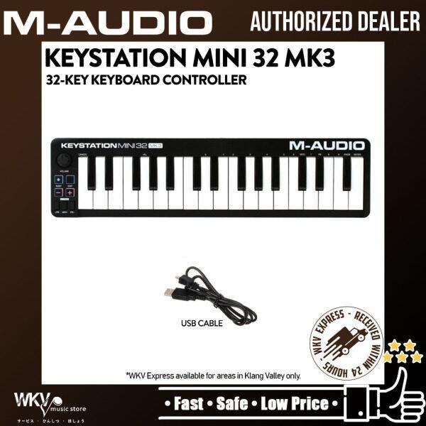 M-Audio Keystation Mini 32 Mk3 32-Key Portable Keyboard Controller USB MIDI Controller (Keystation-32 / Keystation32) Malaysia