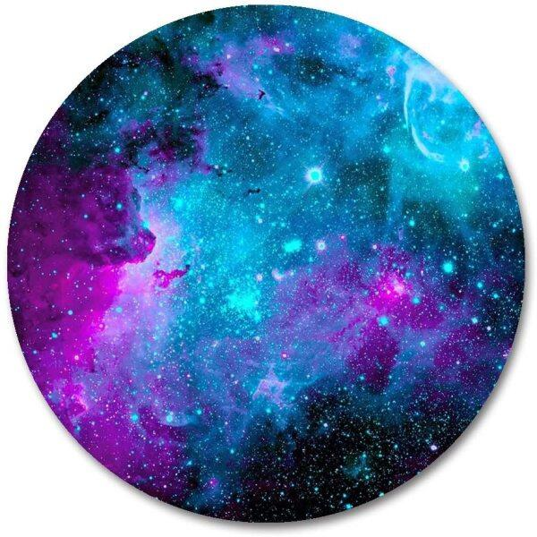 Galaxy Round Mouse Pad Blue Purple Galaxy Customized Round Non-Slip Rubber Mousepad Gaming Mouse Pad 7.87 X7.87  inch Malaysia