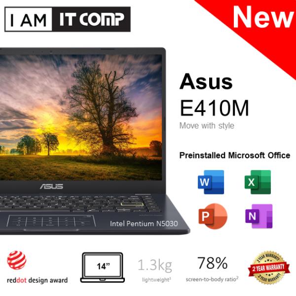 ASUS E410M E410M-ABV016TS / E410M-AEK664TS / E410M-AEK966TS 14 Laptop (Celeron N4020 & Pentium N5030/4GB/256GB/W10) FOC Wireless Mouse/ MS Office Malaysia