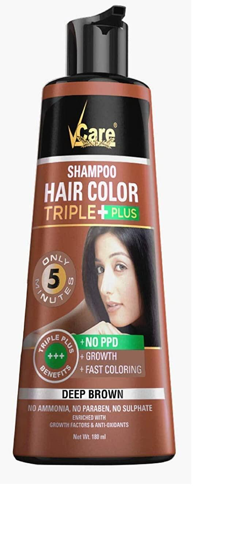 Vcare Hair Color Shampoo Black Brown 180ml Bottle Lazada