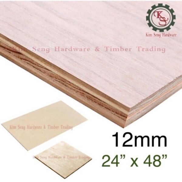 (2ft x 4ft) 12mm Plywood Timber Panel Wood Board Sheet Ply Wood 2'x4'x12mm