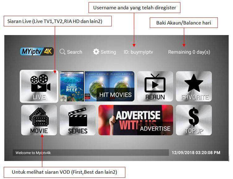 MYIPTV4K 6 Months [Code sent in Chat] Ready Code Fast Activation Langgan  Authorised Dealer IPTV Pin Code Activation MYIPTV 4K 6 Bulan Subscribe