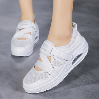 one yona Comfortable 2021 Summer Sandals Women Sneakers Mesh Casual Platform Trainers Shoes Flat Heels Shoes Female Cutout Casual Slippers Big Size 42 thumbnail