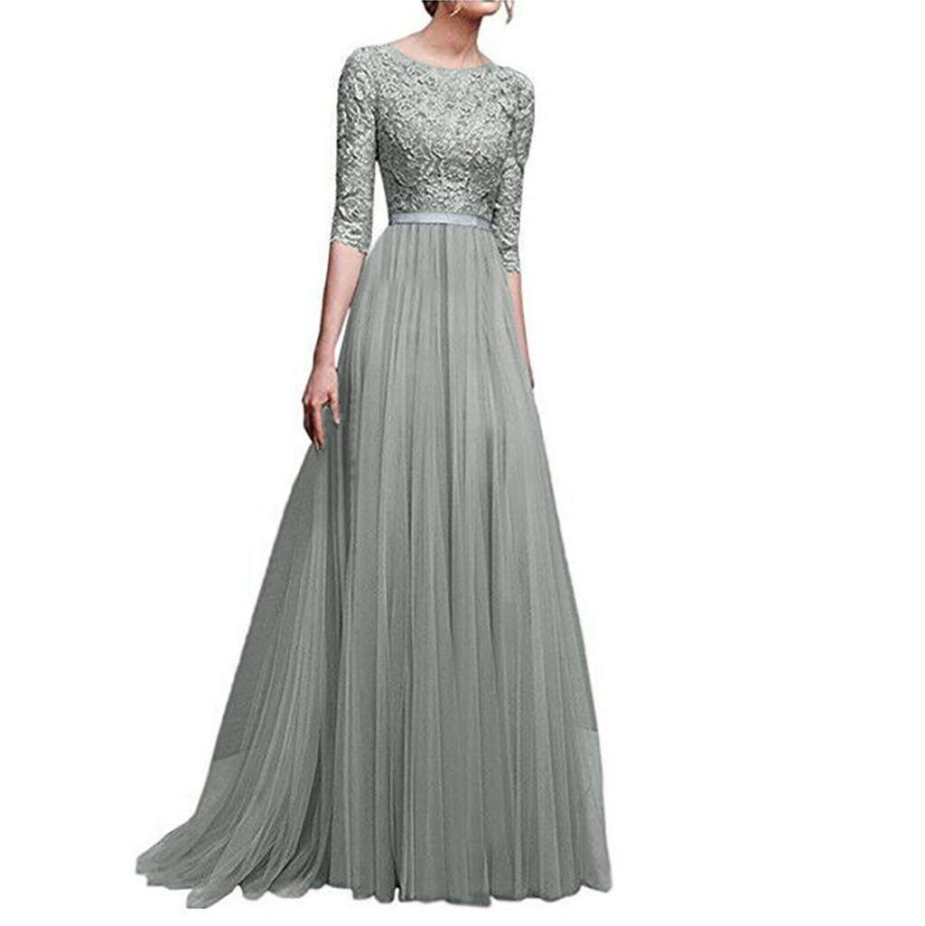 Women Formal Long Bridesmaid Dress Party Prom Cocktail Ball Gown Wedding Evening