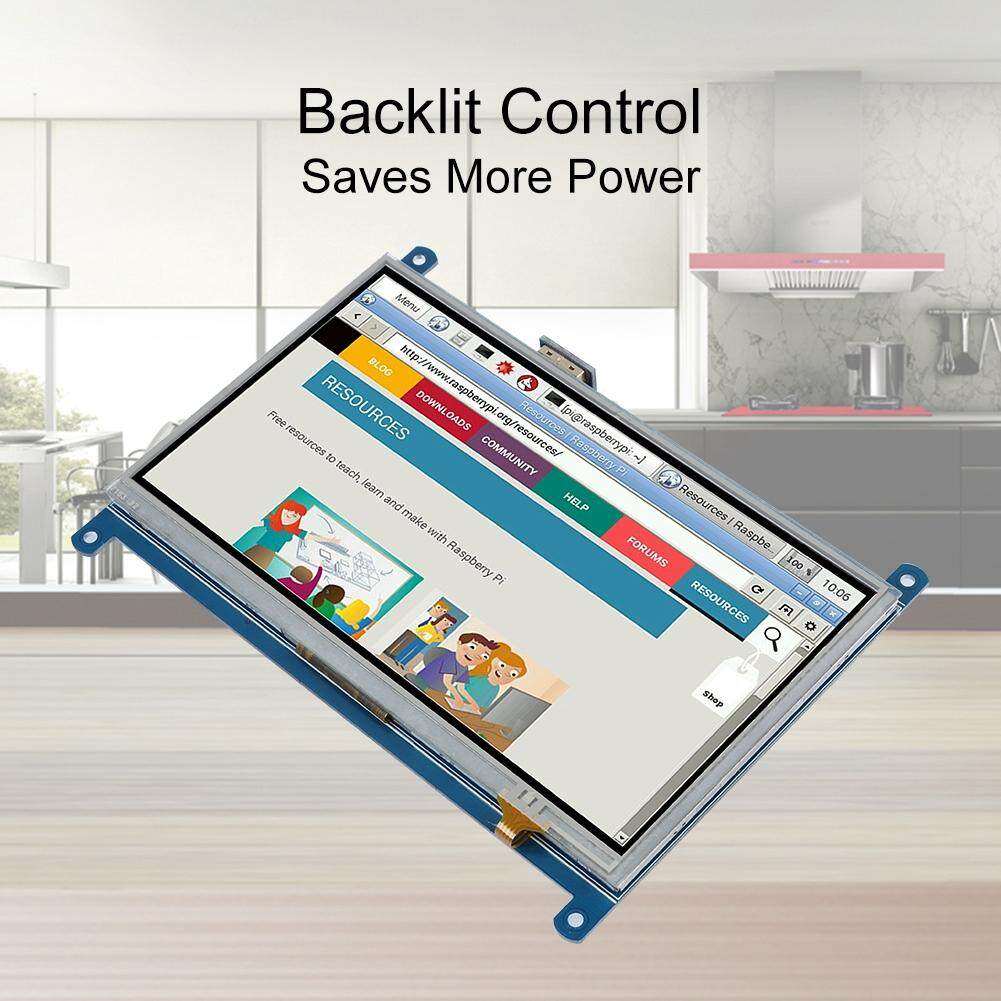 7 inch Touch Screen for Raspberry Pi 1024*600 HDMI Display Resistive Touchscreen for Raspberry