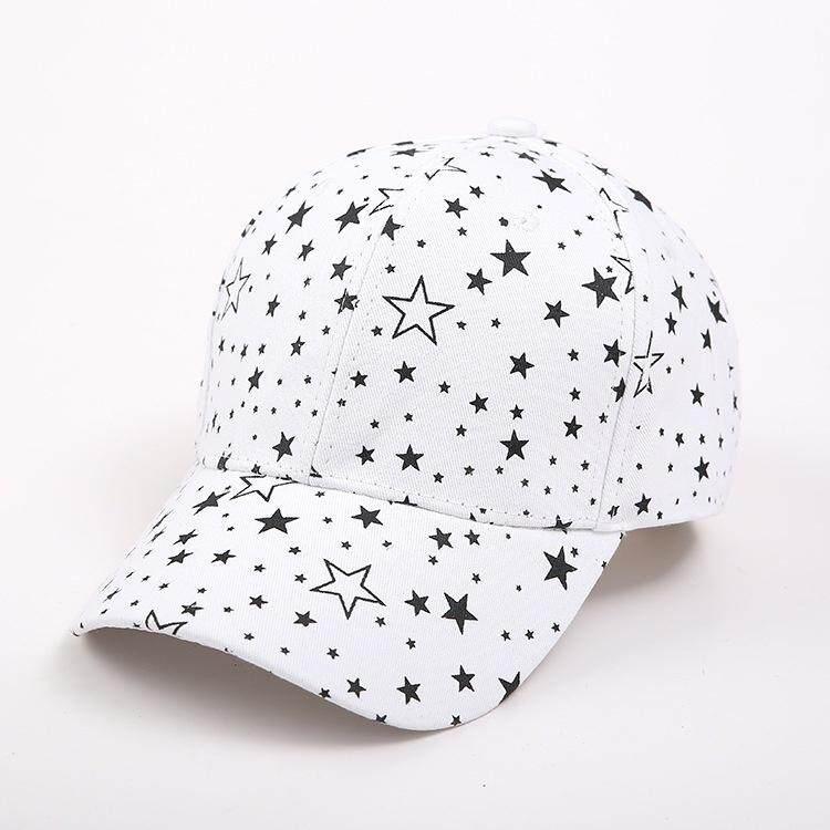 Topi Pasangan Unisex Berbintang Cetak Topi Bisbol Kasual Topi Pelindung Matahari By Jack Jia.