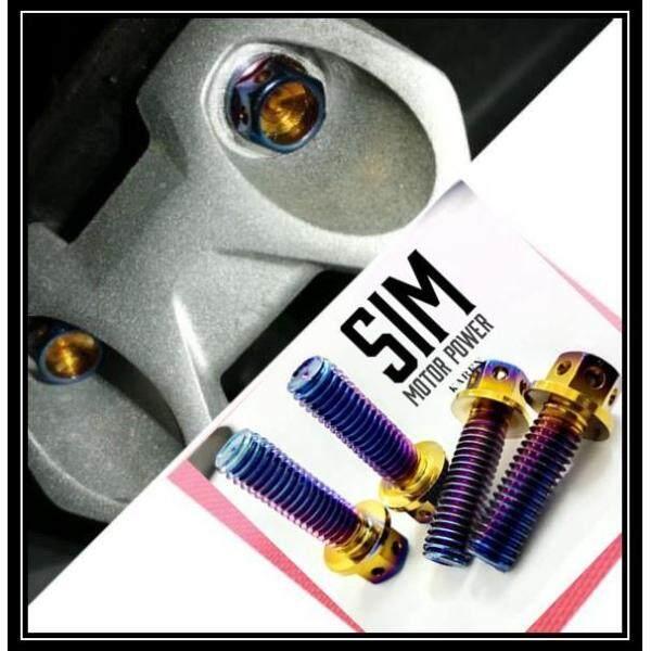 Rear footrest bracket titanium screw(M8) RS150 Y15ZR V1-V2 Honda yamaha Y15 rs-150 skru pemijak Mijak kaki belakang rcb