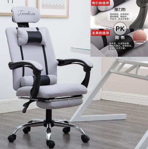 G Gaming Swivel Office Chair GREY with LEG REST + (120 x 60cm) Simple Office Table Game adjustable premium extreme reclining kerusi desk table furniture