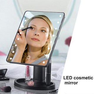 Gương Trang Điểm Mặt Nữ 22 Đèn LED Tiện Dụng Dụng Cụ Gương Trang Điểm Mỹ Phẩm Để Bàn Cảm Ứng Xoay 360 Độ, Hot Bán thumbnail