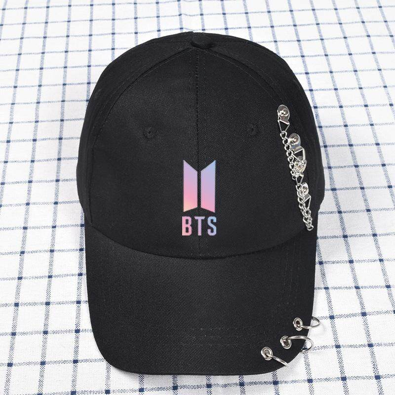 Bts Surveillance Bulletproof Youth Club Hat Support Celebrity Inspired Rivet Baseball Cap Solid Color Duckbill Hat Summer By 2018jiaojiao.