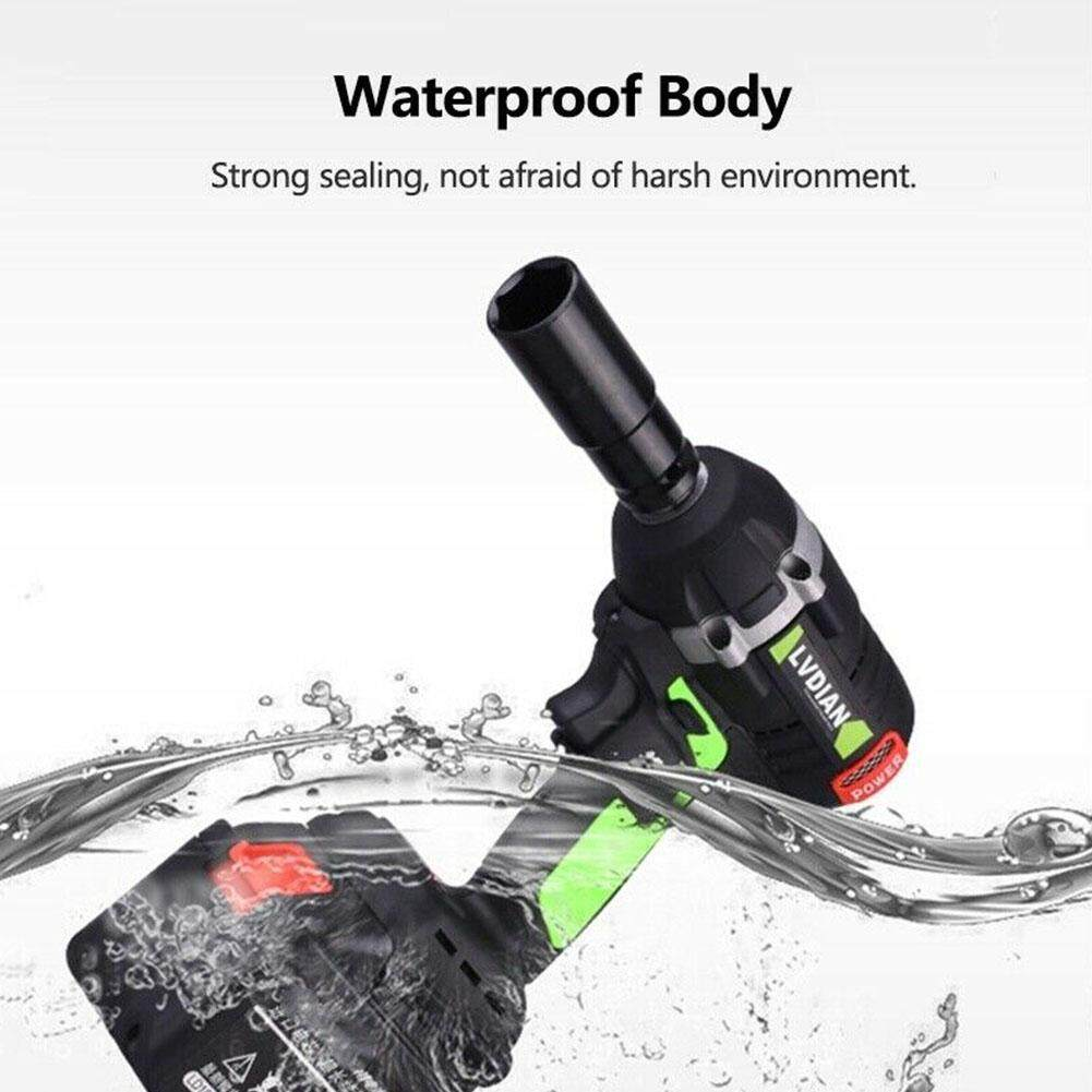Practical Multifunctional Waterproof Brushless Auto Repairing Rechargeable Punching Cordless Impact Wrench
