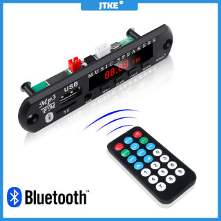 JTKE Bo Mạch Giải Mã Máy Nghe Nhạc MP3 Bluetooth 5.0 Bộ Thu Mô-đun AUX TF USB 3.5Mm Đài FM Bộ Xe Hơi Bảng Khuếch Đại Âm Thanh, 5V 12V Với Điều Khiển Từ Xa thumbnail