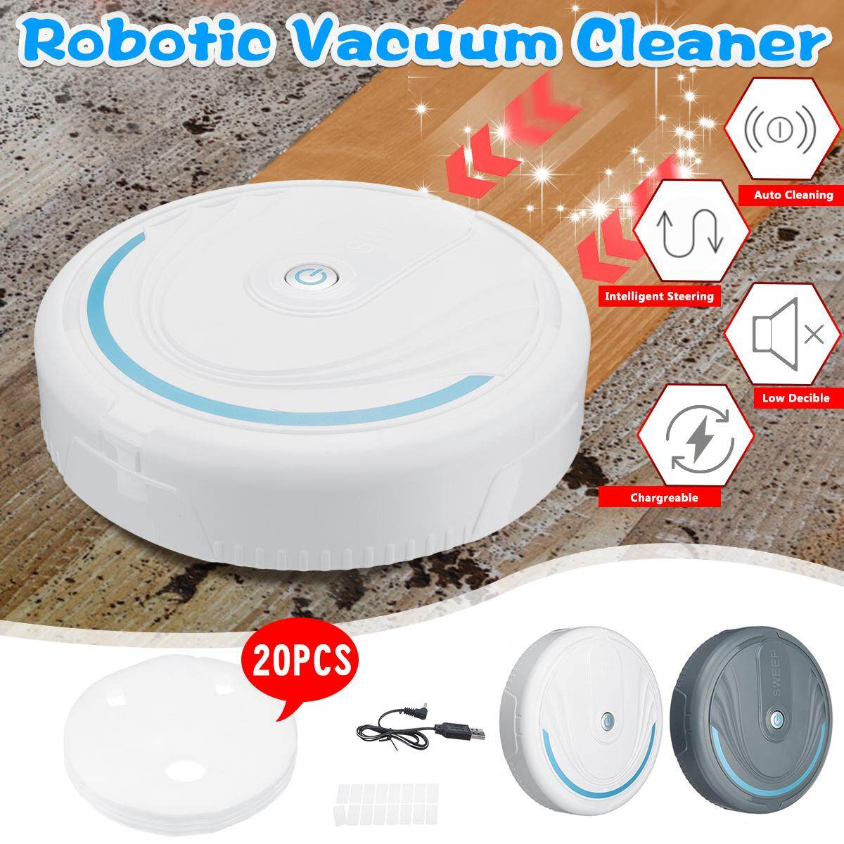 【free Pengiriman + Flash Deal】smart Lantai Robot Pembersih Vakum Otomatis Usb Sapu Pembersih Penyapu Robot By Audew.