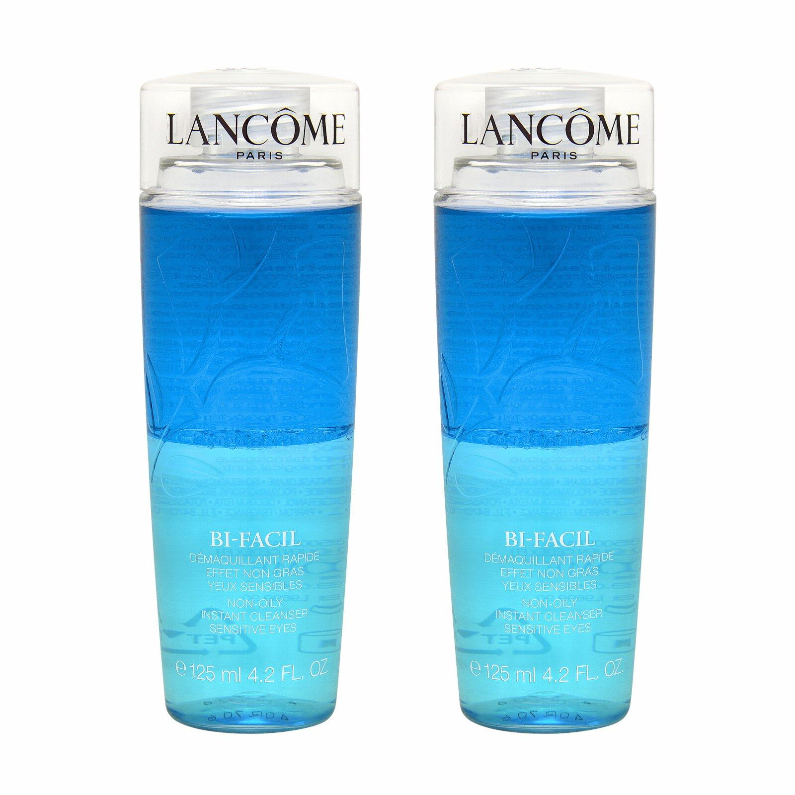 2 X LancÔme Bi-Facil Non Oily Instant Cleanser Sensitive Eyes 4.2oz, 125ml - Intl.