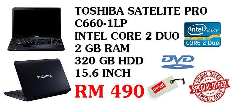 STUDENTS OFFER TOSHIBA SATELITE INTEL CORE 2 DUO 2 GB RAM 320 GB HDD Malaysia