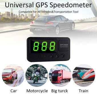 RYT C60S รถดิจิตอลเครื่องจีพีเอส Speedometer ความเร็ว KM/h MPH สำหรับจักรยานรถจักรยานยนต์-