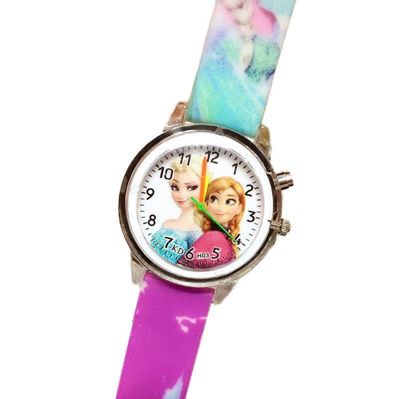 Princess Children Watches Electronic Colorful Light Source Child Watch Girls Birthday Party Kids Gift Clock Childrens Wrist Malaysia