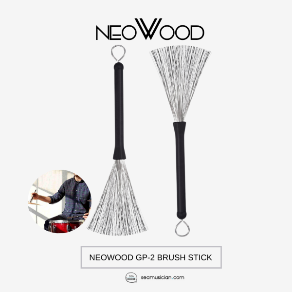NEOWOOD GP-2 BRUSH STICK (PERCUSSION ACCESORIES/ DRUM ACCESORY/ STEEL BRUSH) Malaysia