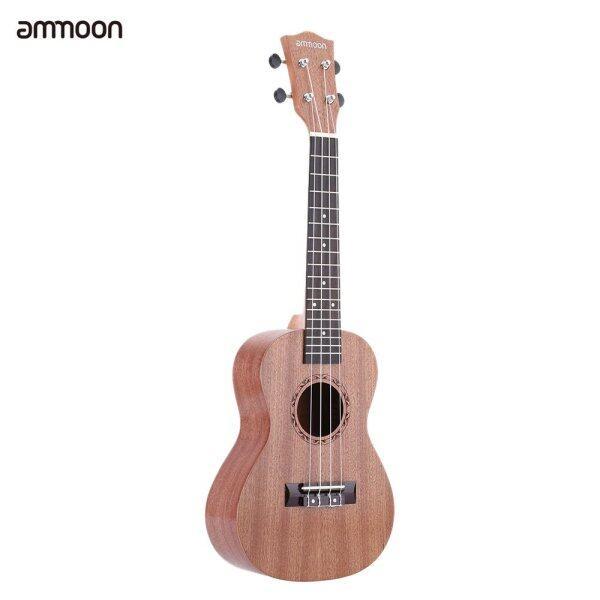 Ammoon 24  Sapele Ukulele 4 Dây Rosewood Fretboard Nhạc Cụ Quà Tặng Ngày Năm Mới