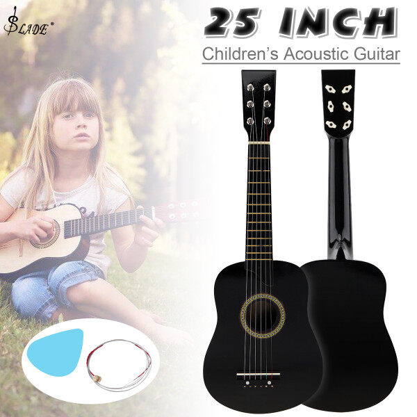 SLADE 25 Inch Basswood Acoustic Guitar with Pick Strings Toy Guitar for Children and Beginner Malaysia