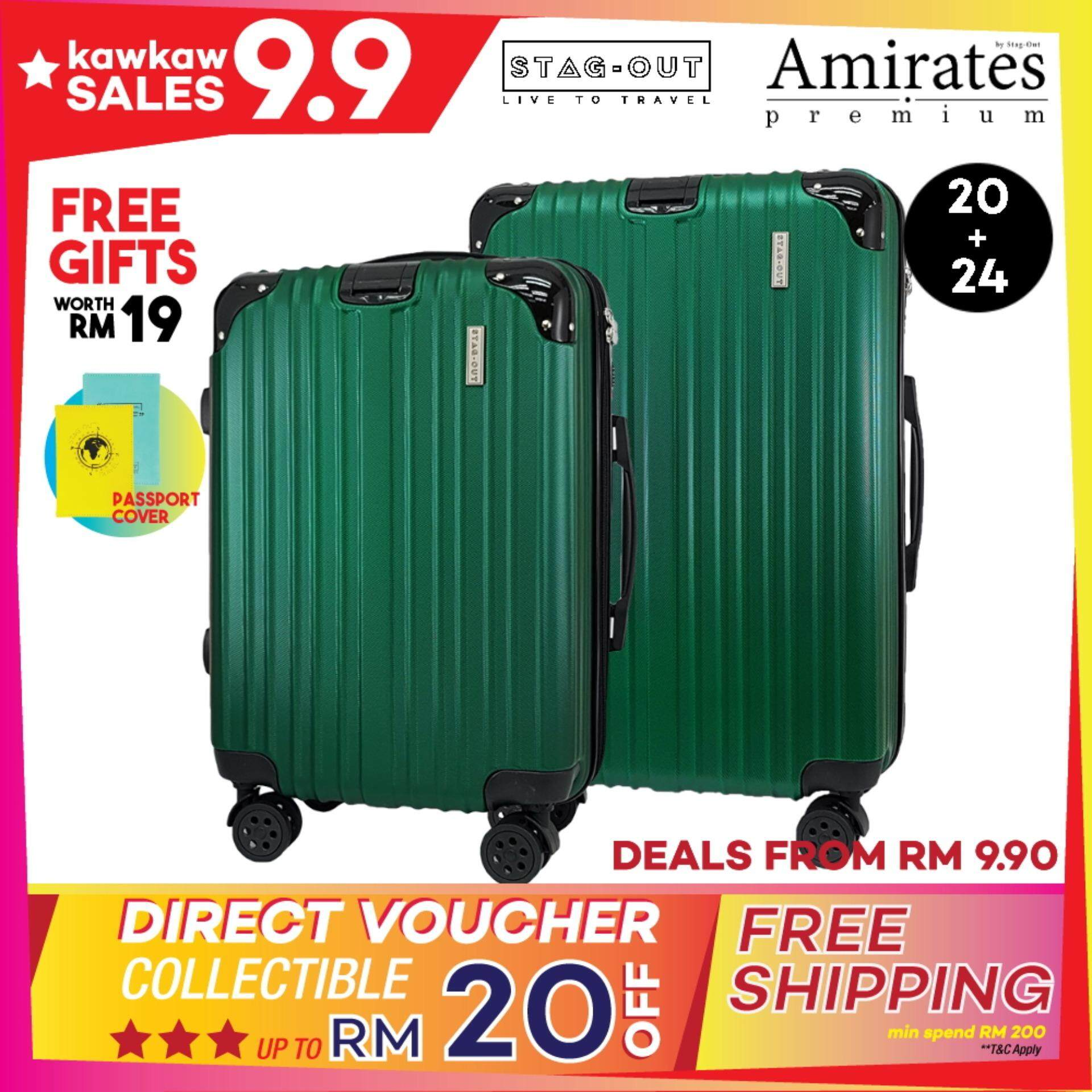[Stag-Out] Amirates Premium 2in1 Protector ABS Hardcase Travel Luggage Set  Bag Suitcase