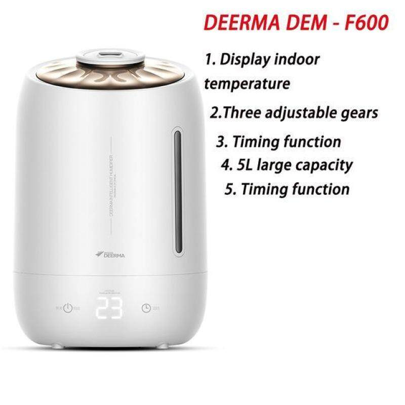 DEM-F500 5L Air Humidifier Ultrasonic Quiet Aroma Mist Maker LED Touch Screen Timing Function Home Water Diffuser Singapore