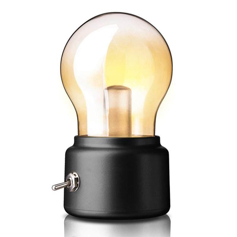 Retro Charging Bulb Night Light Creatived Nostalgic USB Bedside Atmospheres Table Lamp