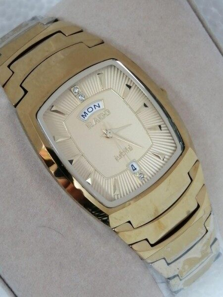 SPECIAL PROMOTION NEW FASHION_RADO_WITH  DATE DISPLAY MINERAL CRYSTAL GLASS WATCH FOR Unisex Malaysia