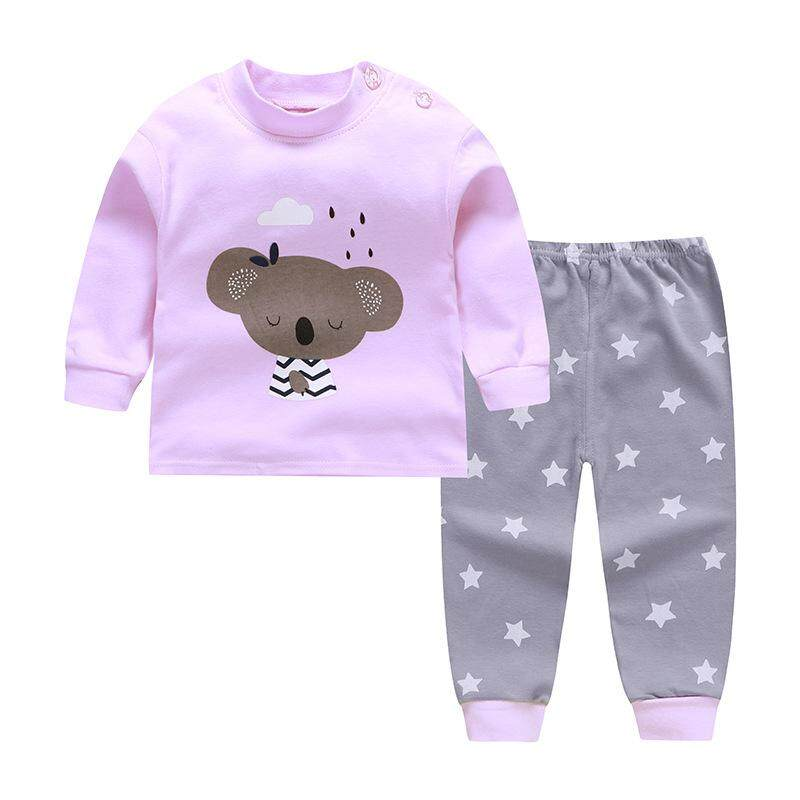 93dcc300f Kids cotton pyjamas long sleeve shirt + long sleeve pant (6mth - 5yrs)