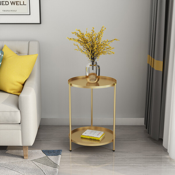 Northern Europe Small Teapoy Table Sofa Small Side Cabinet Small Bedroom Small Creative Iron Art Small Side Table Ins Online Celebrity Teapoy Table