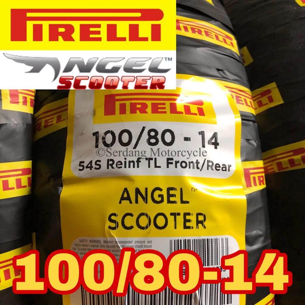 PIRELLI Angel Scooter Tubeless Tyre Tire Tayar Motorcycle Bike Skuter PCX Vario 100/80-14 100/80/14 Honda Yamaha