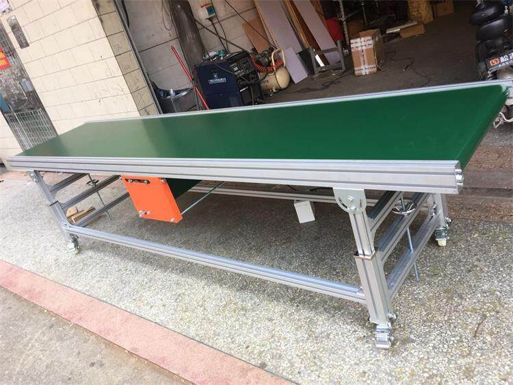 Assembly Line industrial transfer green pvc Belt Conveyor for express Workbenches
