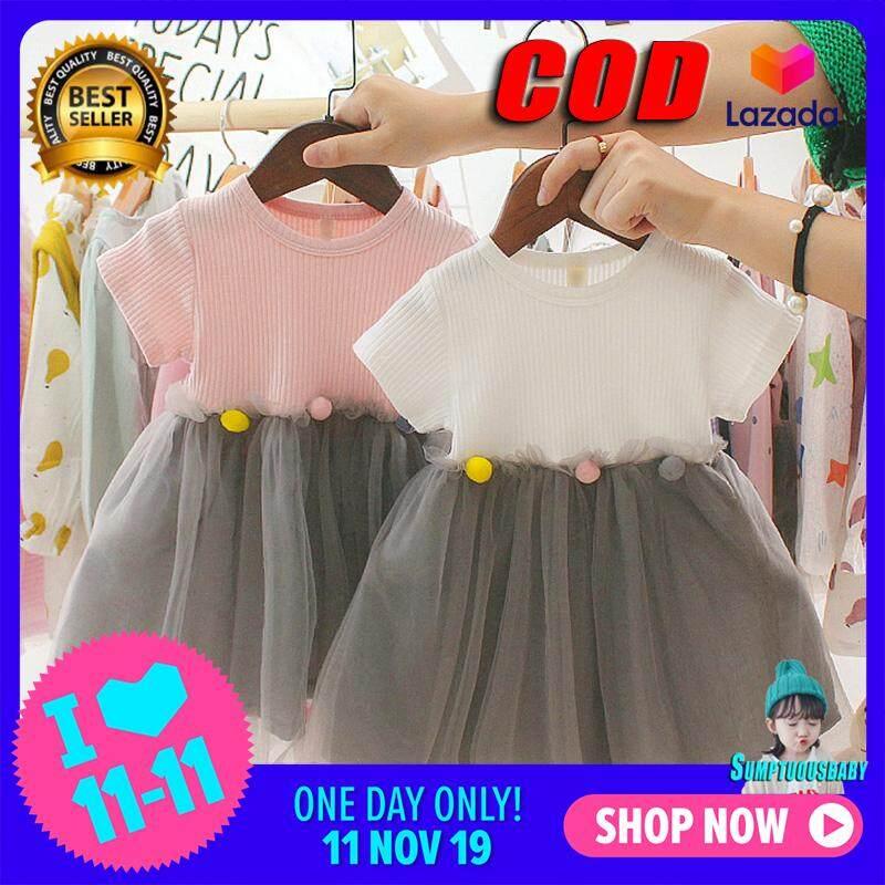 Giá bán 0-3Years Bé Gái Sweety Sành Điệu Và Đầm Xinh Xắn Thời Trang Hàn Quốc Công Chúa Khâu Kiểu Dáng Chân Váy Lưới