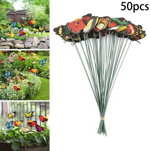 50pcs Simulation Single-layer Plunger Butterfly Decoration 4cm