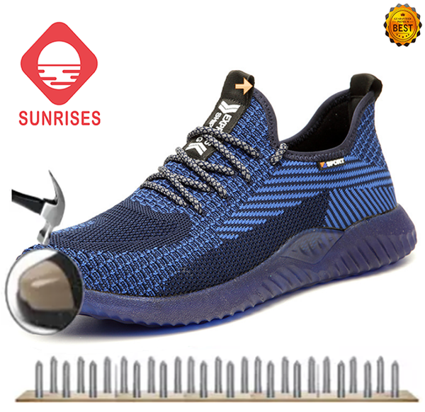 SUNRISES 2020 New Model Outdoor Breathable Mesh Safety Shoes Light Shoes For  Large Size Non-slip Soft Steel Work Boots