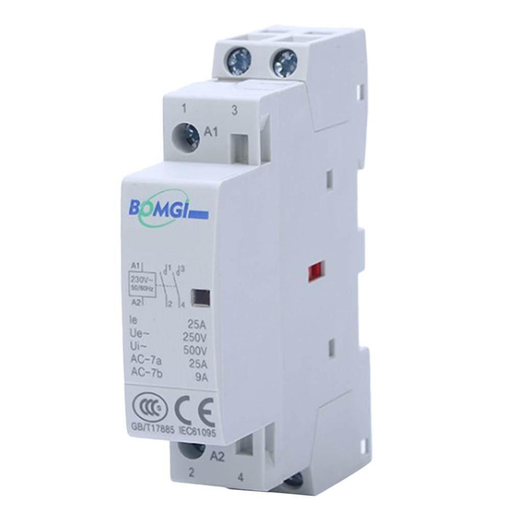 Blesiya AC Modular Contactor 2P 20A 2NO 230V Household Contactor Din Rail Type