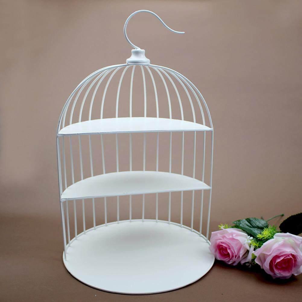 European Style Three-layer Bird Cage Shape Snack Tea Dessert Cake Stand