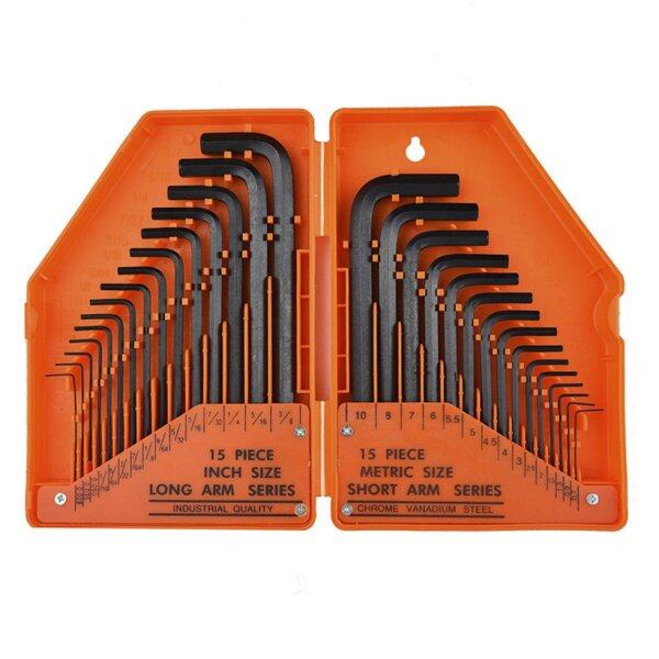 GOFT 30in1 Inner Hex Key Wrench Torx Hex Allen Key Sets SAE Set Precise Manual Tool