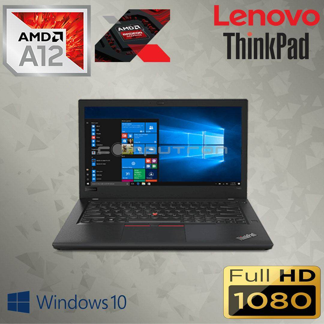 LENOVO THINKPAD A475 - MILITARY GRADE ULTRABOOK [AMD PRO A12-9800B CARRIZO PRO QUAD CORE/ 8GB DDR4/ 240GB SSD/ FULL-HD] BRAND NEW - 2 YEAR WARRANTY LENOVO Malaysia