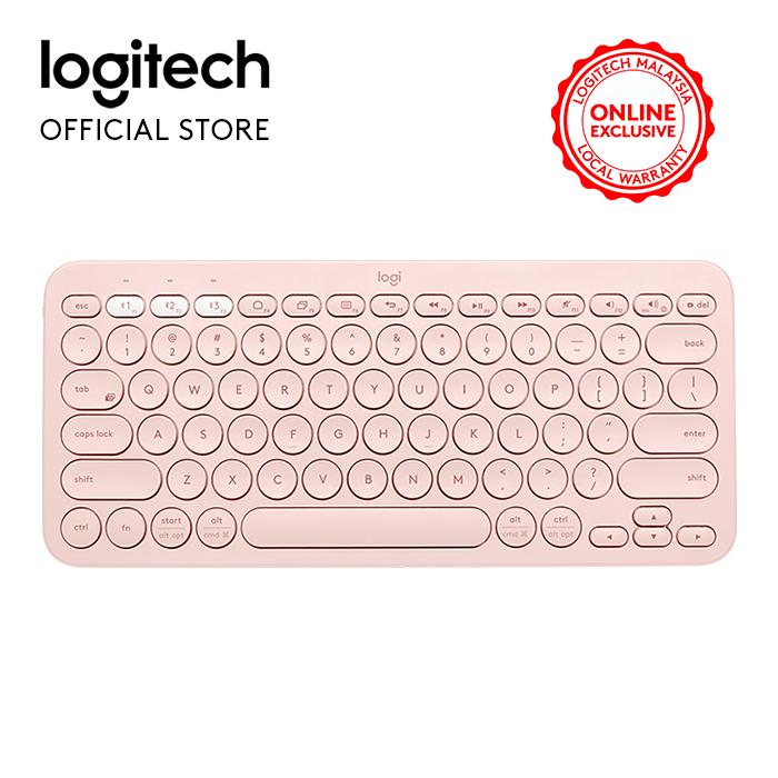 Logitech K380 Bluetooth Multi Device Keyboard-Rose Gold (920-009579) Malaysia